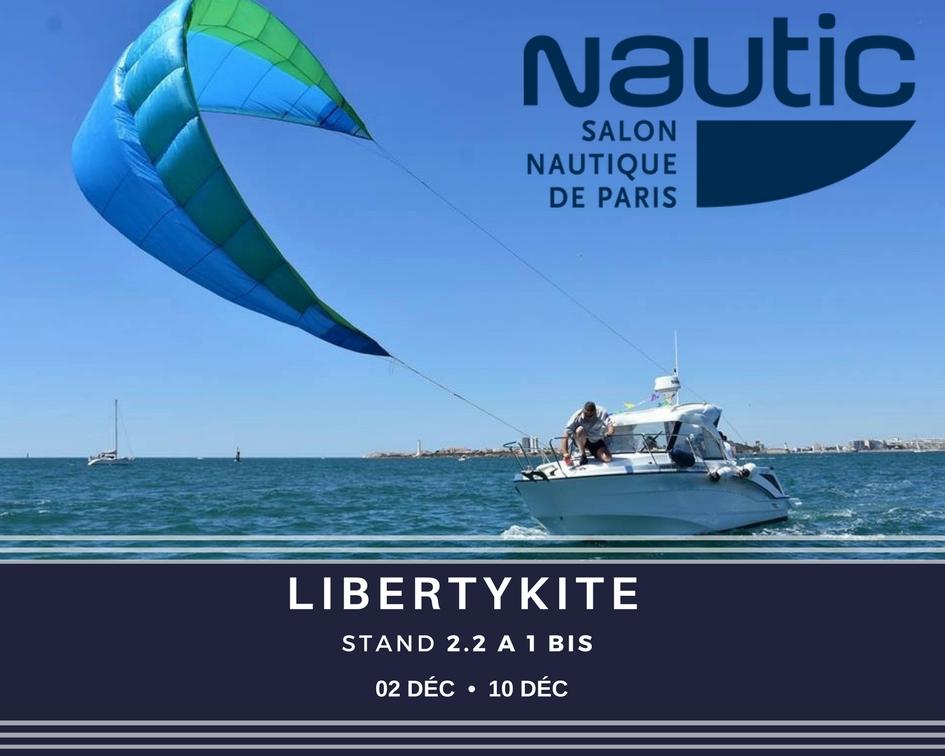 Libertykite pr sent sur le salon nautique international de - Salon nautique international de paris ...