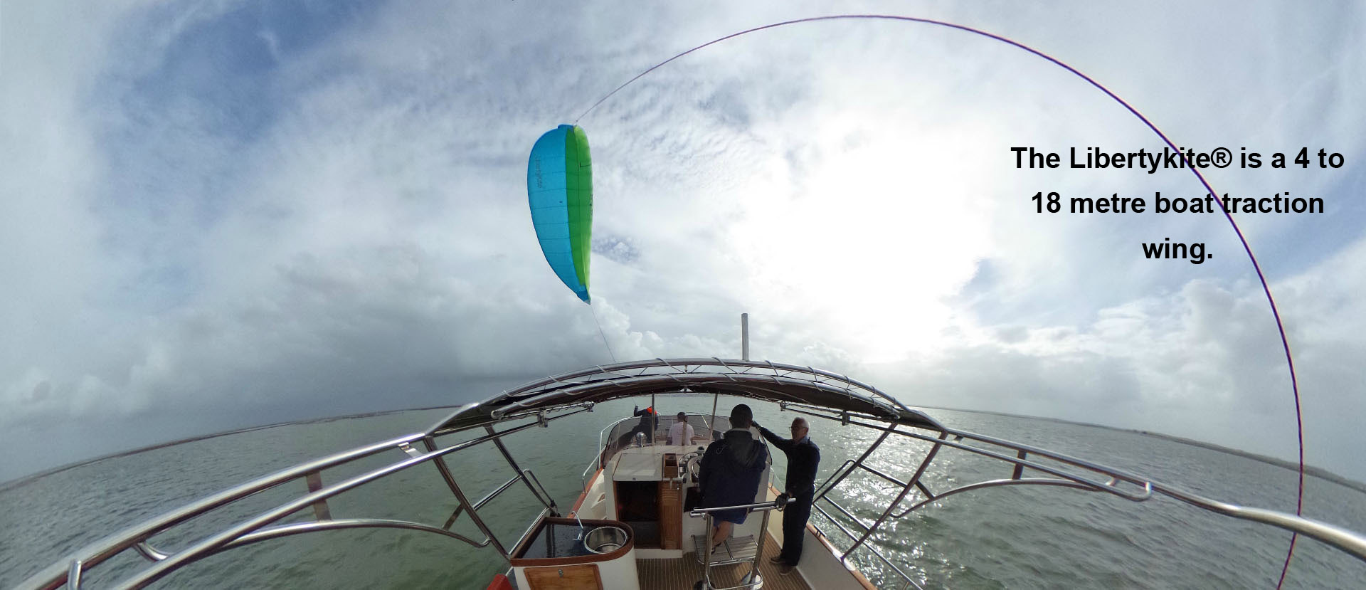 The Libertykite® is a 4 to 18 metre boat traction wing.